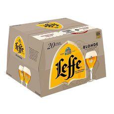 LEFFE Bière blonde 6,6% bouteille 20x25cl