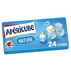 APERICUBE Cubes de fromage apéritif Nature 24 cubes 125g