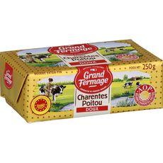 GRAND FERMAGE Beurre doux extra-fin AOP Charentes-Poitou 250g