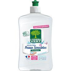 L'ARBRE VERT Liquide vaisselle et mains Ecolabel peaux sensibles 500ml