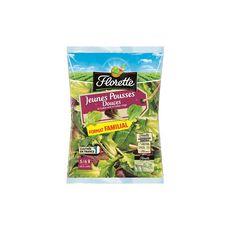 FLORETTE Jeunes pousses douces de laitue verte et laitue rouge format familial 175g