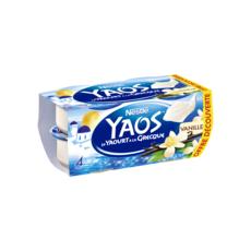 YAOS Yaourt a la grecque saveur vanille 4x125g