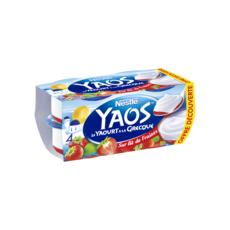 YAOS Yaourt à la grecque sur lit de fraises 4x125g