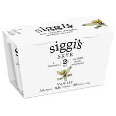 SIGGI'S Skyr à l'irlandaise 2% MG saveur vanille 2x140g