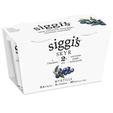 SIGGI'S Skyr à la myrtille 2% MG 2x140g