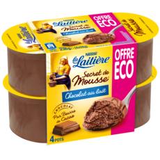LA LAITIERE Mousse au chocolat au lait 4x59g