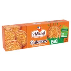 ST MICHEL Galettes bio pur beurre, sachets fraîcheur 4x5 biscuits 130g