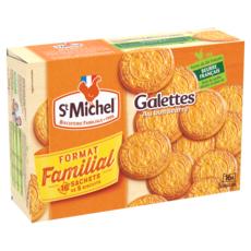 ST MICHEL Galettes au beurre, sachets fraîcheur 16x5 biscuits 520g