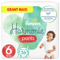 PAMPERS Couches Harmonie Pants taille 6 (+15kg) 36 couches