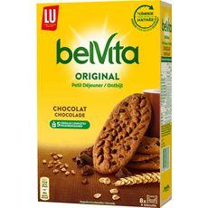 BELVITA Biscuits petit-déjeuner au chocolat, sachets fraîcheur 8x4 biscuits 400g