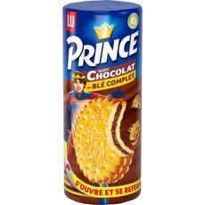 PRINCE Biscuits fourrés goût chocolat au blé complet 300g