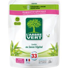 L'ARBRE VERT Lessive hypoallergénique au savon végétal 33 lavages 1,5l