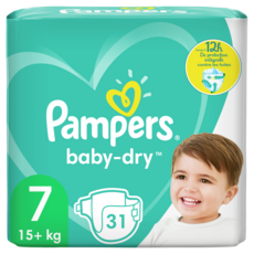 PAMPERS Baby-dry géant couches taille 7 (15kg et +) 31 couches
