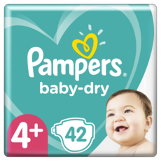 PAMPERS Baby-dry géant couches taille 4+ (10-15kg) 42 couches