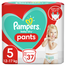 PAMPERS Baby-dry pants couches-culottes taille 5 (12-17kg) 37 couches