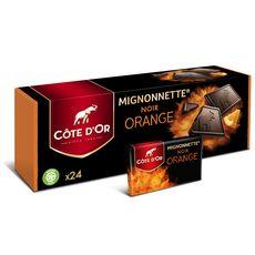 COTE D'OR Mignonnettes de chocolat noir orange 240g