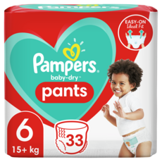 PAMPERS Baby-dry pants couches-culottes taille 6 (15kg+) 33 couches