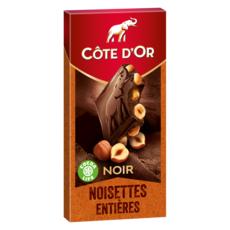 COTE D'OR Tablette de chocolat noir et noisettes entières 1 pièce 180g