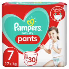 PAMPERS Baby-dry pants couches-culottes taille 7 (17kg+) 30 couches