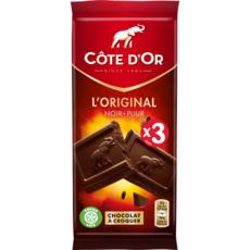 COTE D'OR L'original tablette de chocolat noir 3 pièces 3x100g