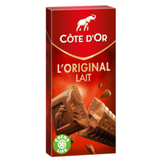 COTE D'OR L'original tablette de chocolat au lait en barres 1 pièce 200g