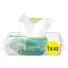 PAMPERS Coco harmonie lingettes à l'huile de coco 42 lingettes