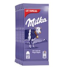 MILKA Tablette de chocolat au lait du Pays Alpin 6x100g