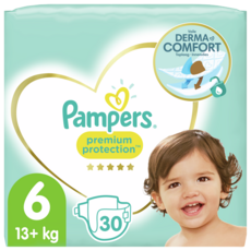 PAMPERS Premium protection couches taille 6 (+13kg) 30 couches