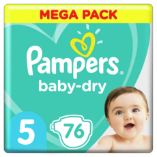 PAMPERS Baby-dry couches taille 5 (11 à 16kg) 76 couches
