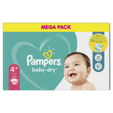 Pampers PAMPERS Baby-dry Couches taille 4 (10-15kg) jusqu'à 12h de protection