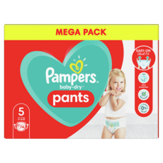 PAMPERS Baby-dry pants Couches-culottes taille 5 (12-17kg) 74 couches