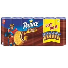 PRINCE Biscuits fourrés au chocolat 6x300g