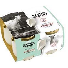 SAVOIE YAOURT Yaourt nature au lait de chèvre 4x120g