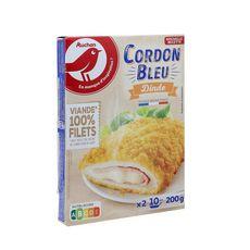 AUCHAN Cordon bleu de dinde 2 pièces 200g