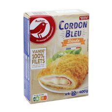 AUCHAN Cordon bleu de dinde 4 pièces 400g