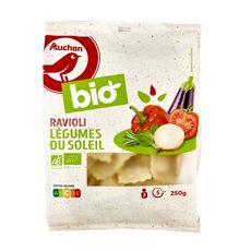 AUCHAN BIO Ravioli légumes du soleil 2 portions 250g