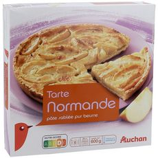 AUCHAN Tarte normande pâte sablée pur beurre 6 personnes 600g