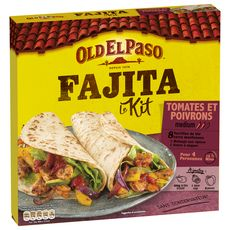 OLD EL PASO Kit pour fajitas tomates et poivrons - medium 4 personnes 500g