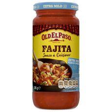 OLD EL PASO Sauce à cuisiner pour fajitas - extra doux 395g