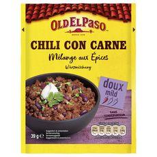 OLD EL PASO Mélange aux épices pour chili con carne sans conservateur - doux 39g