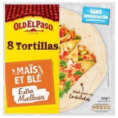 OLD EL PASO Tortillas de maïs et blé 8 pièces 335g