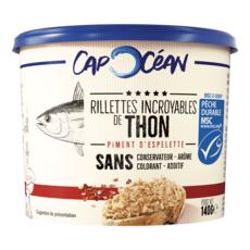 CAP OCEAN Rillettes de thon au piment d'Espelette 140g