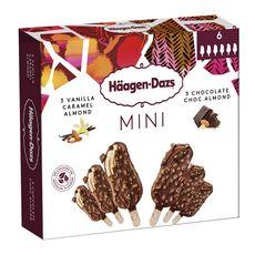 HAAGEN DAZS mini bâtonnets vanille caramel amande et chocolat 220g