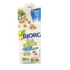 BJORG Boisson soja bio sans sucres ajoutés 1l