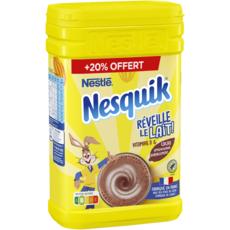 NESQUIK Chocolat en poudre sans arôme artificiel +20% offert 1kg