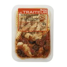 AUCHAN LE TRAITEUR Sauté de veau aux olives et fusilli 1 portion 300g