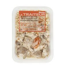 AUCHAN LE TRAITEUR Blanquette de veau et riz filière responsable 1 portion 300g