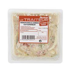 AUCHAN LE TRAITEUR Piémontaise au jambon cuit supérieur 1 portion 200g