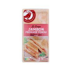 AUCHAN Croques à poêler au jambon et fromage 2 pièces 200g
