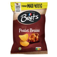 BRETS Chips saveur poulet braisé 400g